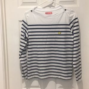 Masters Magnolia Lane collection striped top SZ S